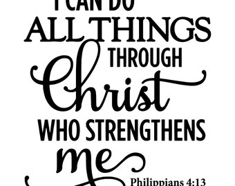 Philippians 4:13 Decal