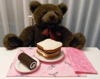 Felt Food Peanut Butter Sandwich and Chocolate Cake Roll