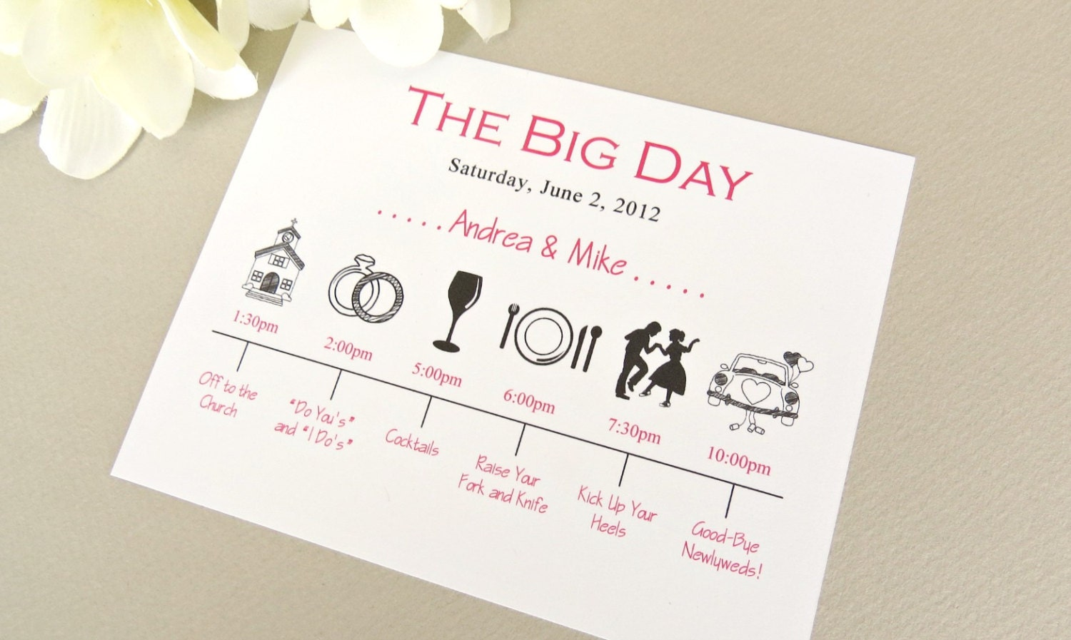 Wedding day timeline schedule of events invitation card zoom junglespirit Images