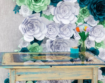 SOLD!!! Sea scape epoxy table,Original Resin Art, Coffee table,Table top,Wall Art, Epoxy Resin table, Resin art,Modern Art