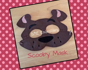 Scooby Inspired Mask-Dress Up-Halloween Mask/Costume-Imaginary Play- Birthday Party Favor-Theme Parties-Scooby Doo -Photo Prop-Dog Mask