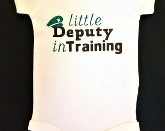 Little Deputy In Training Bodysuit, Police Baby Clothes, Law Enforcement Baby, Police Officer Gift, Thin Blue Line, Deputy Sheriff, Cop Baby