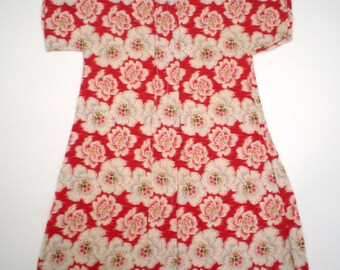 Dolls dress,vintage French cotton, unfinished!