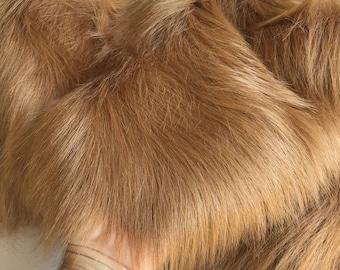 ORANGUTAN - Crazy Long Chestnut - Faux (fake) Fur - Full METRE (140 x 100)