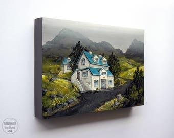 Icelandic Wool Shop - Original Painting by Nicole Gustafsson