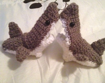 Crochet shark socks etsy baby shark socks baby shark slippers shark baby booties made to dt1010fo