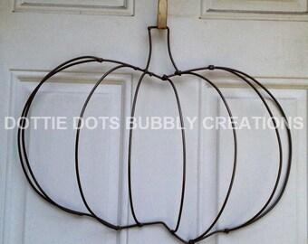 Pumpkin Wire Wreath Form
