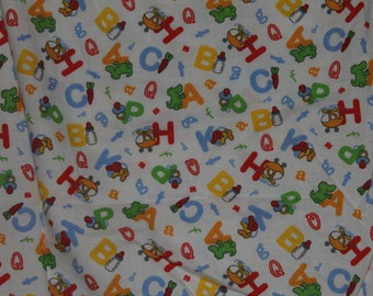 Baby Alphabet Fitted Crib/Toddler Bed Sheet