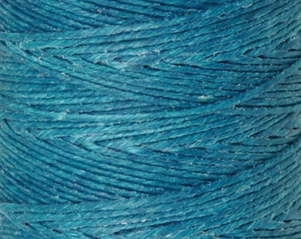Tools & Supplies-4-Ply Irish Linen Cord-Waxed-Teal-Crawford Threads-Quantity 100 Yards