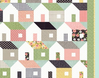 Home Again pattern by Lella Boutique   House quilt pattern, stacked gomes