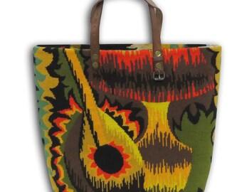 Canvas Handbag, French Tapestry Purse, Seventies : Le Césarine