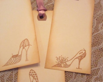 Shoes, High Heels, Shoes Gift Tags, Shoes Wishes Tags, Shoes Thank You Tags