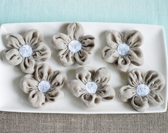 Fabric flowers, flowers appliques, handmade appliques, decoration sewed flower, craft supplies, embellishments, wedding decorations