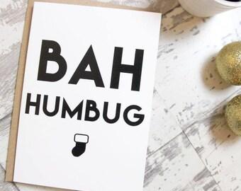 Bah Humbug greetings card
