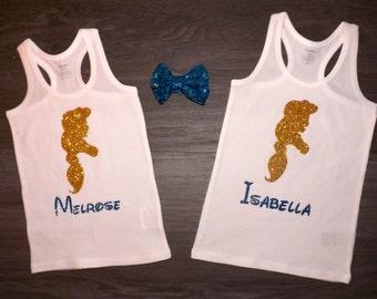 Disney Princess Jasmine Silhouette personalized with child's name