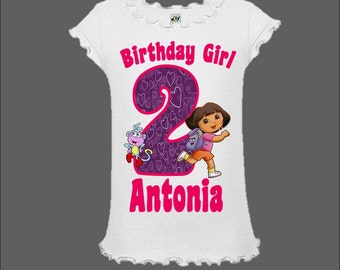 Dora The Explorer Birthday Shirt - Dora Birthday Shirt