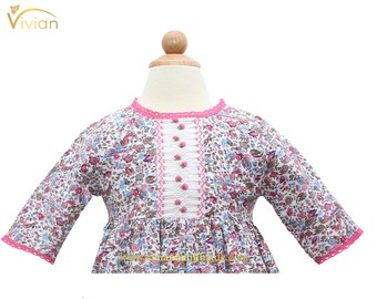 D18.83 - Hand smocked dress