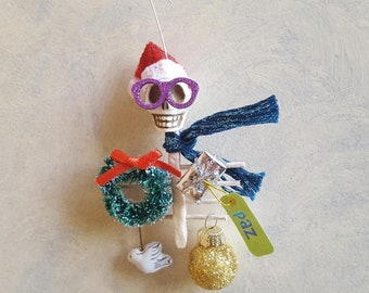Santa Skull Day of the Dead Christmas Ornament