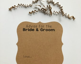Advice Cards for the Bride-to-Be, Wedding Advice Cards, Words of Wisdom for the couple, Well Wishes for the Bride & Groom
