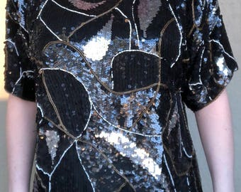 Sequin vintage top by Carolyne Barton
