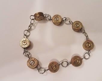Brass Or Silver 9mm Primer Cap Bracelet / Optional Charm Handmade Jewelry