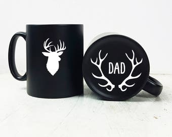 Carved Stag Mug-Daddy Gift-Gift for Dad-Fathers Day Gift-Gift for Fathers Day-Engraved Gift-Mug Gift-Birthday Gift for Dad-Stag-King