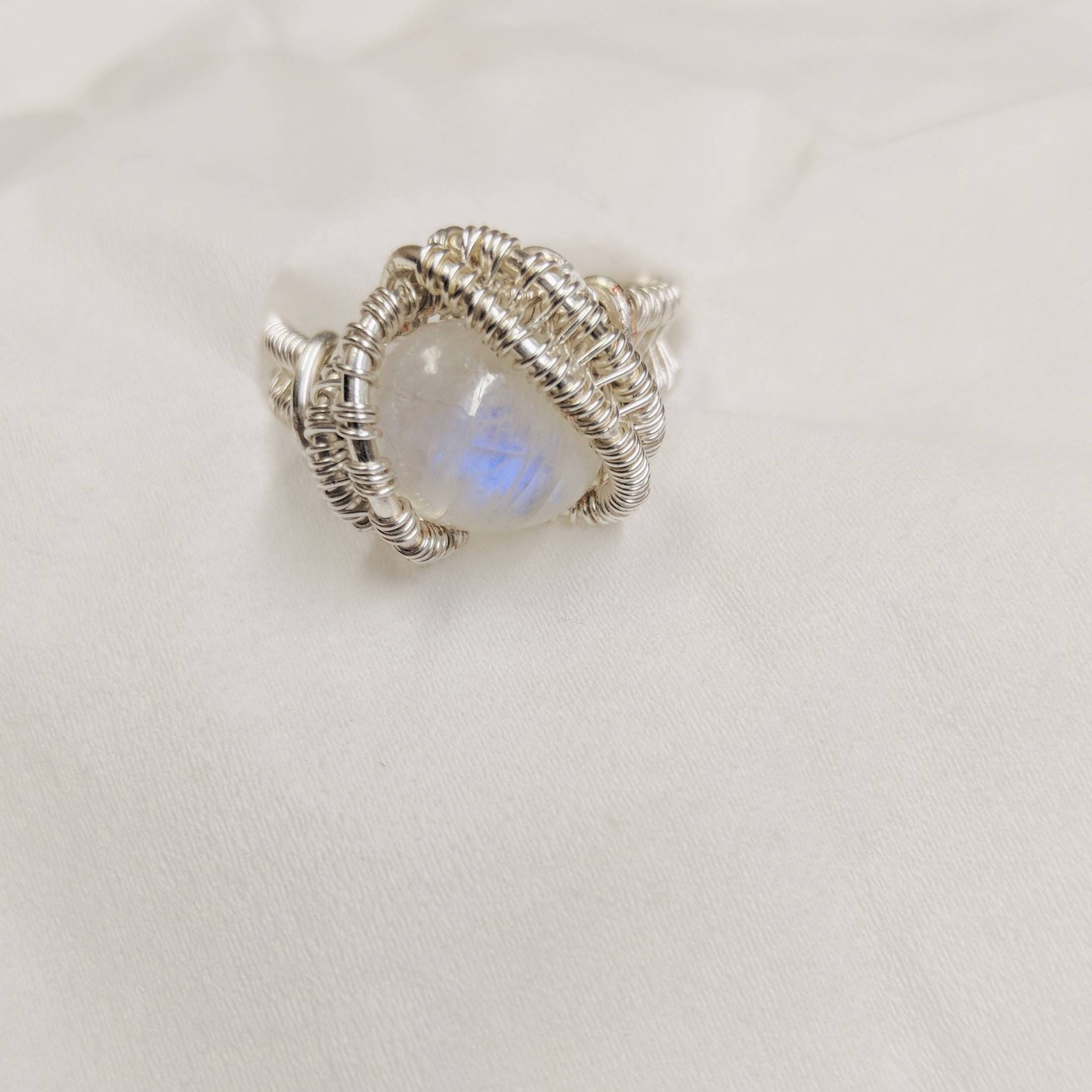 rings makya moonstone ring jewellery rainbow faceted pin jewelry and moonstones