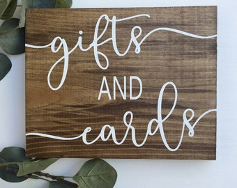 Gifts & Cards Sign, Rustic Wood Sign, Rustic Wedding Sign, Gift Table Sign, Wedding Signage, Woodland Wedding Sign, Wedding Reception Signs