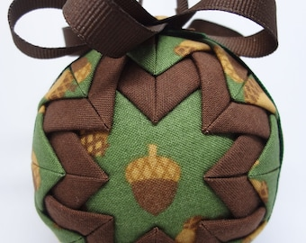 Quilted Fabric Ornament Fall Autumn Acorn