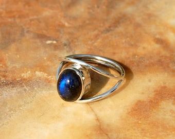 Labradorite Ring Etsy