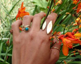 Adjustable ring, brass, handmade, gold, twin flames, jewellery, boho, bohemian, hippy, nomad, jewellery, gypsy, lovers, twin,