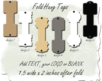 Hang Tags, Blank or Customized, Necklace holder, Bracelet hang tag, Fold Tag,Hanging cards, Jewelry hang cards