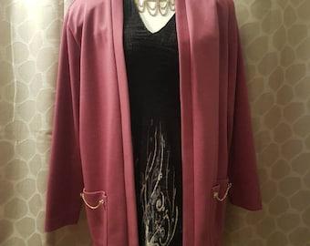 Vintage 1960 Graff Californiawear purple cardigan/blazer