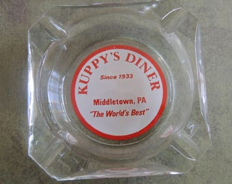 Vintage Advertising Ashtray / Kuppys Diner/ Middletown, Pennsylvania /1960s Ashtray /Diner Ashtray/Souvenir Ashtray / Tobacciana Collectible