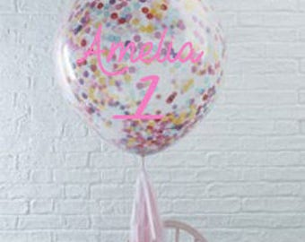 Personalised giant confetti balloon,first birthday,baby shower,cake smash,bubble balloon,party gift