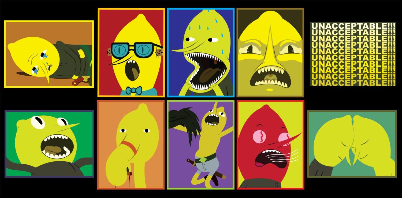 Adventure Time Earl of Lemongrab Vol 1 Sticker 10 pk