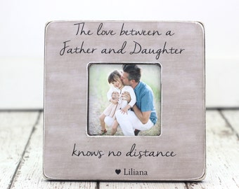 Christmas Gift for Dad Father Daughter Gift Personalized Frame The Love Between a Father and Daughter Knows No Distance