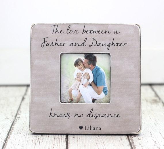 Regalo del día de padre hija marco personalizado marco el amor