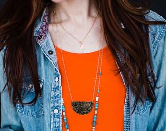 Gold Cactus Charm Necklace