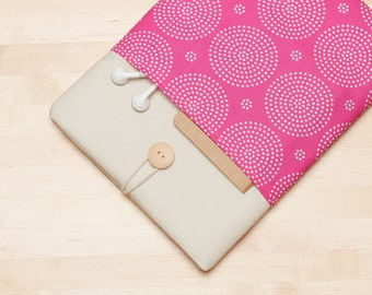 Surface Pro sleeve, Surface Pro case, Surface Pro 4 Case, Surface 3 Case, padded with pockets - Pink