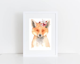 Art Downloads - Instant Art Download - Fox Printable - Fox Art Printable - Gift For A Fox Lover - Fox Download