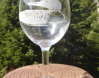Loon Etched Glassware
