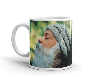 Rajneesh Mug, Coffee mug, Osho, Bhagwan, Rajneesh Sleep, gift for friend, Coffee cup, Gift for her, funny mug, Vintage, Mug, Osho signature,