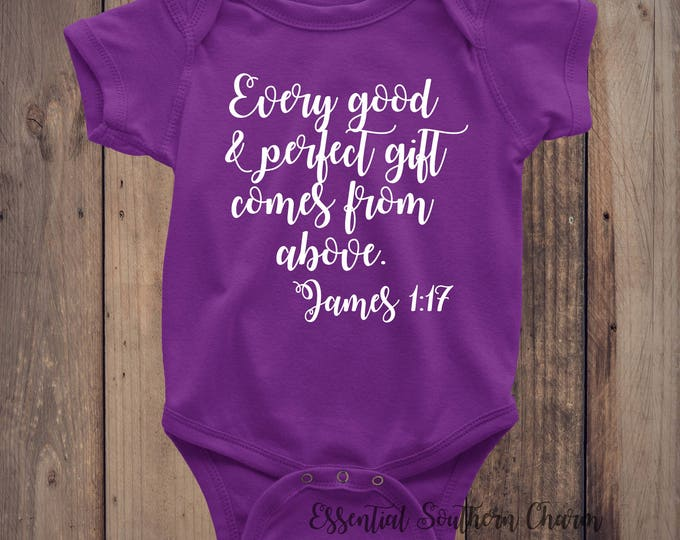 Scripture | Religious | Baby Shower Gift | Baby Body Suit Vinyl