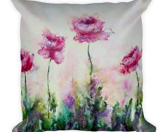 Dreamy Poppies - Decorative Pillow