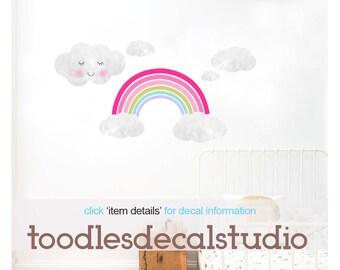 Rainbow wall decals/ Rainbow decor/ Rainbow decals/ Rainbow wall sticker/ Rainbow wall art/ Girls nursery decals