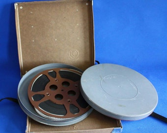 Vintage Pliomagic Film Reel Canister with Film and Box