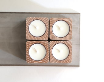 tealight candleholder [whitewash oak]