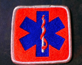 Vintage 1970's Paramedic EMT Embroidered Patch