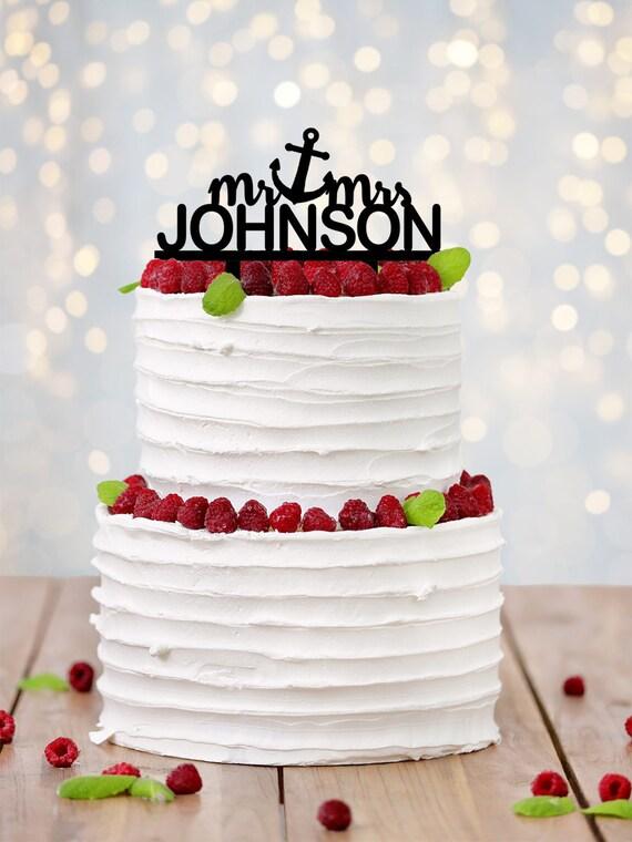 Nautical Wedding Cake Topper Nautical Cake Topper Nautical